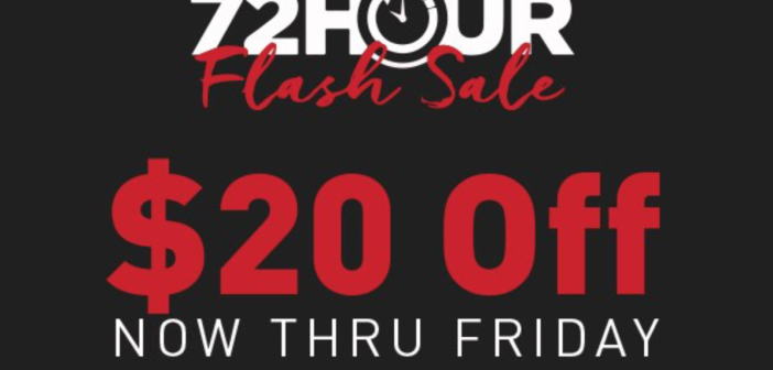 72 hour Flash Sale