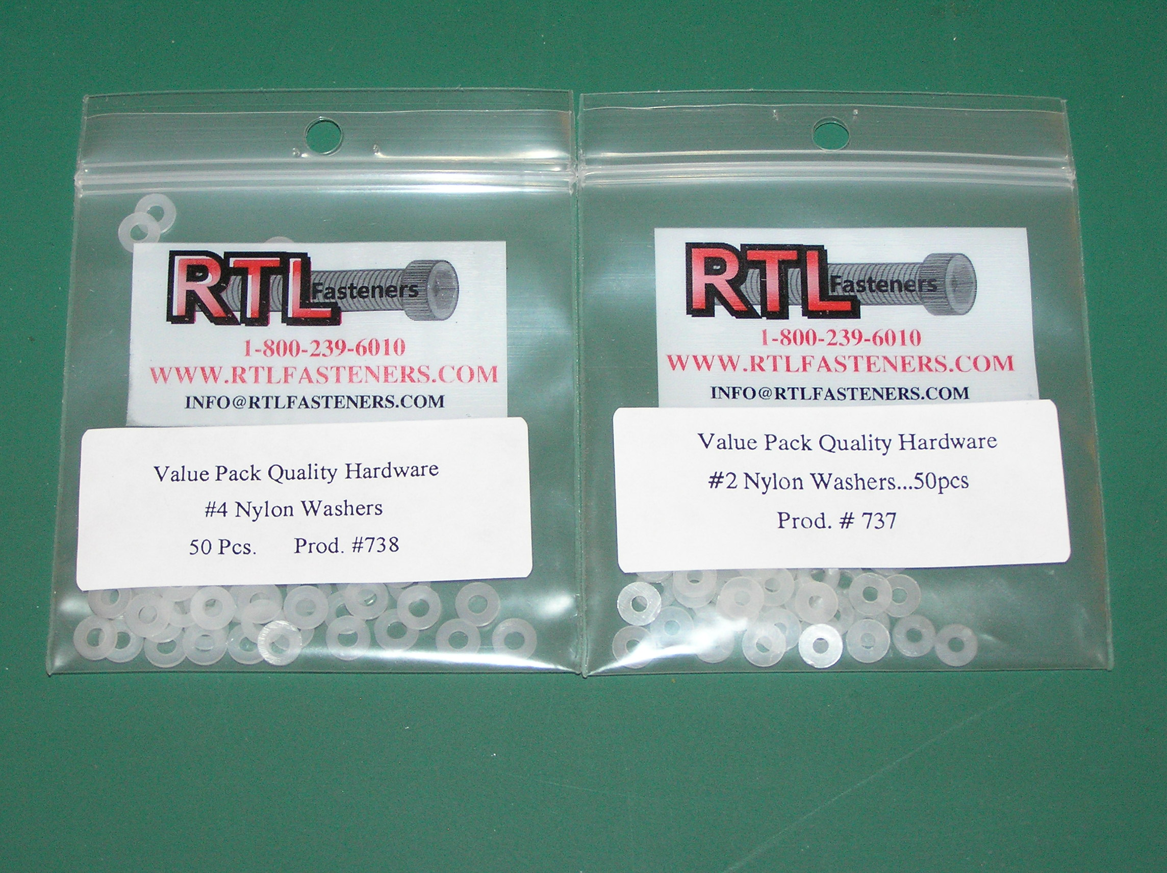 #2 and #3 nylon washers are included in the Servo Mounting Assortment!