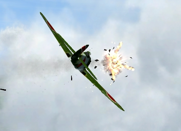 KI-84 Turning Kill!