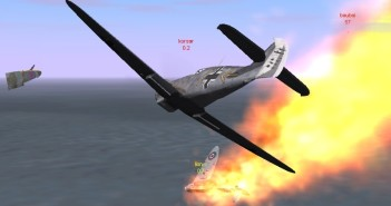 One dead Spit by Me-109