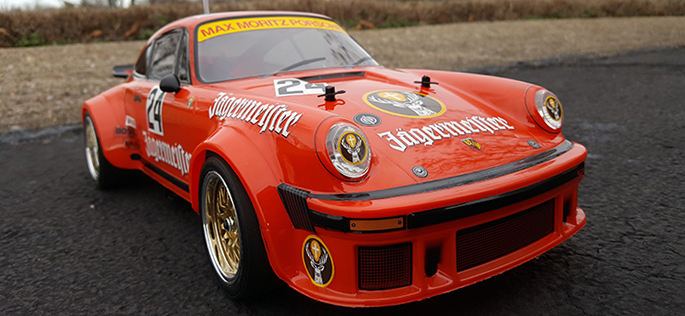 Incredibly Detailed Porsche Jägermeister Celebrating Tamiya's 40th Anniversary