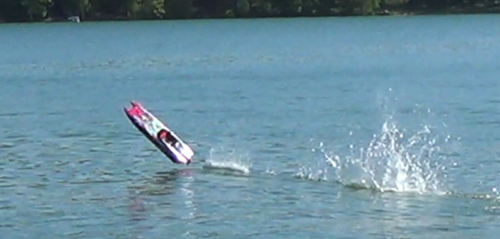 Does the Traxxas M41 survive this 50+ mph crash?  Watch and find out!