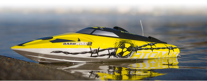 Atomik Barbwire 2 Brushless RC RTR Racing Boat – Back By Popular Demand