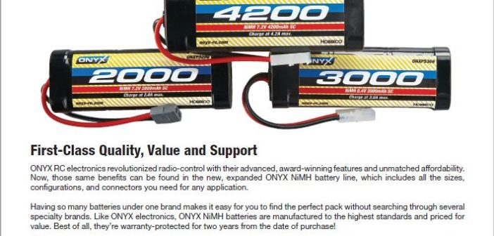 New from HOBBICO – ONYX NiMh Batteries!!!
