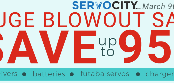 SERVO CITY Huge Blowout Sale until March 15