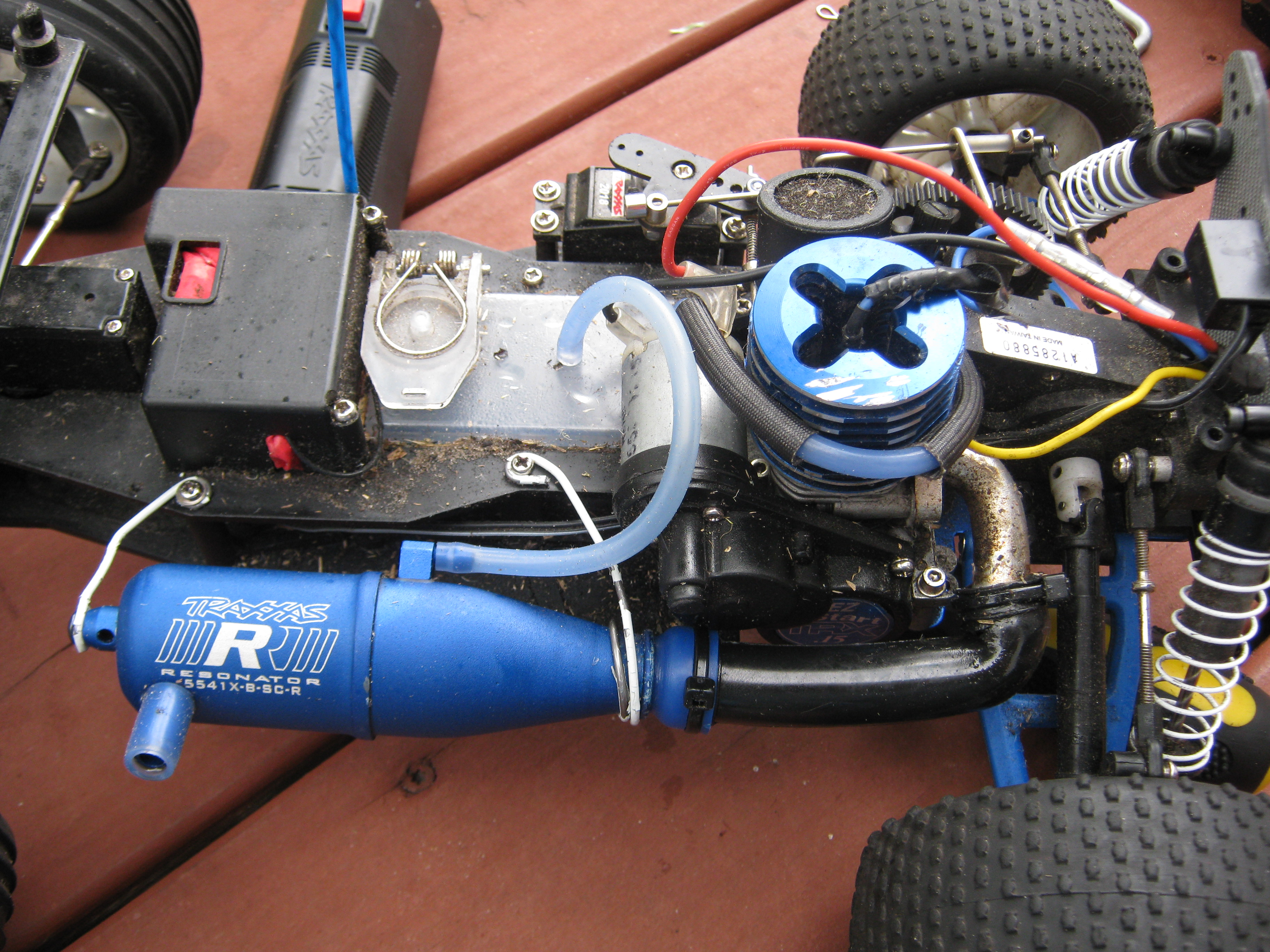 Traxxas nitro sport modded exhaust