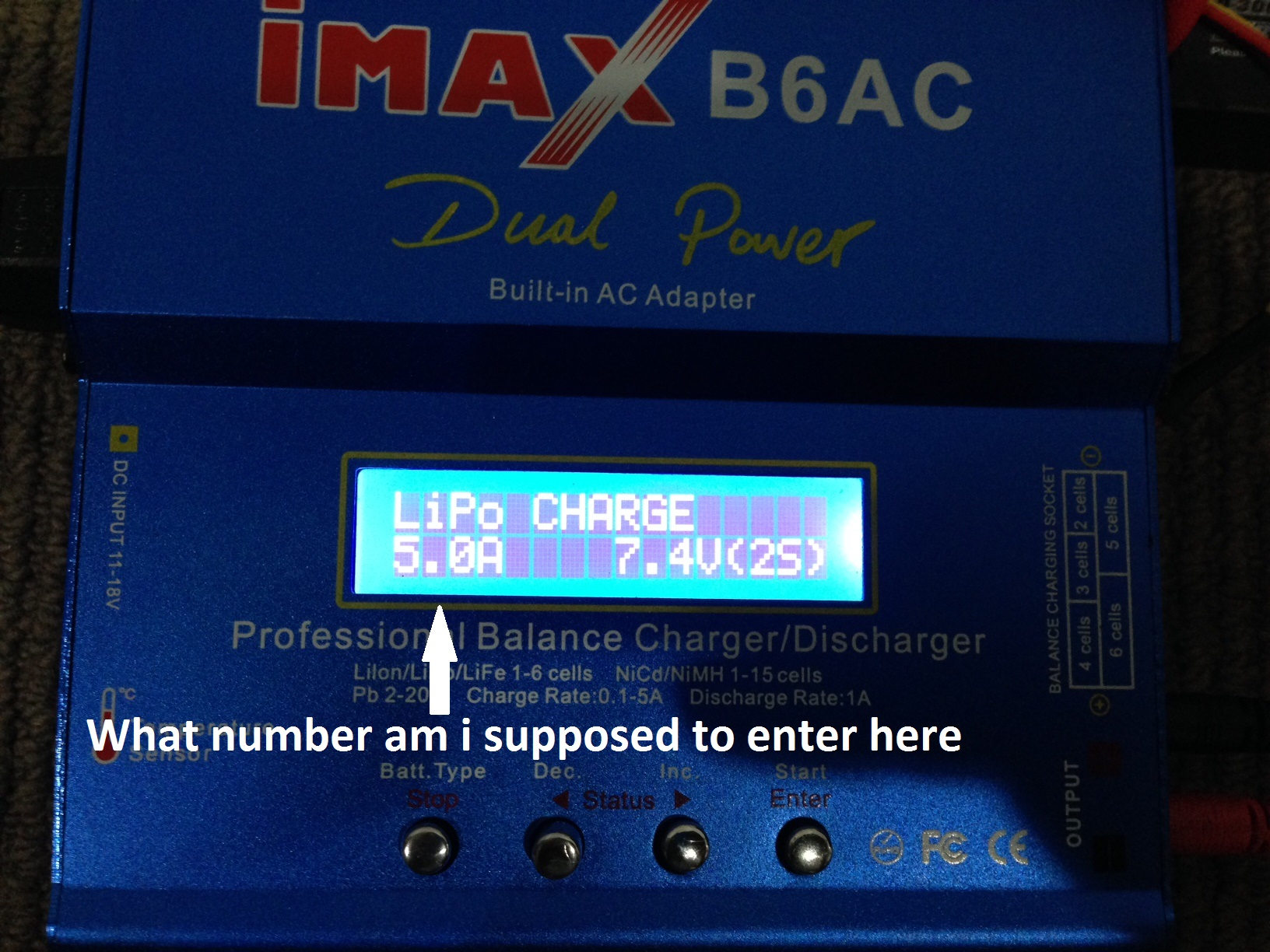 How To Charge My New Lipo Battery Imax B6ac Charger Rcu Forums Balancer Seven Segments Thank You So Much For Your Help Who Ever Is Going