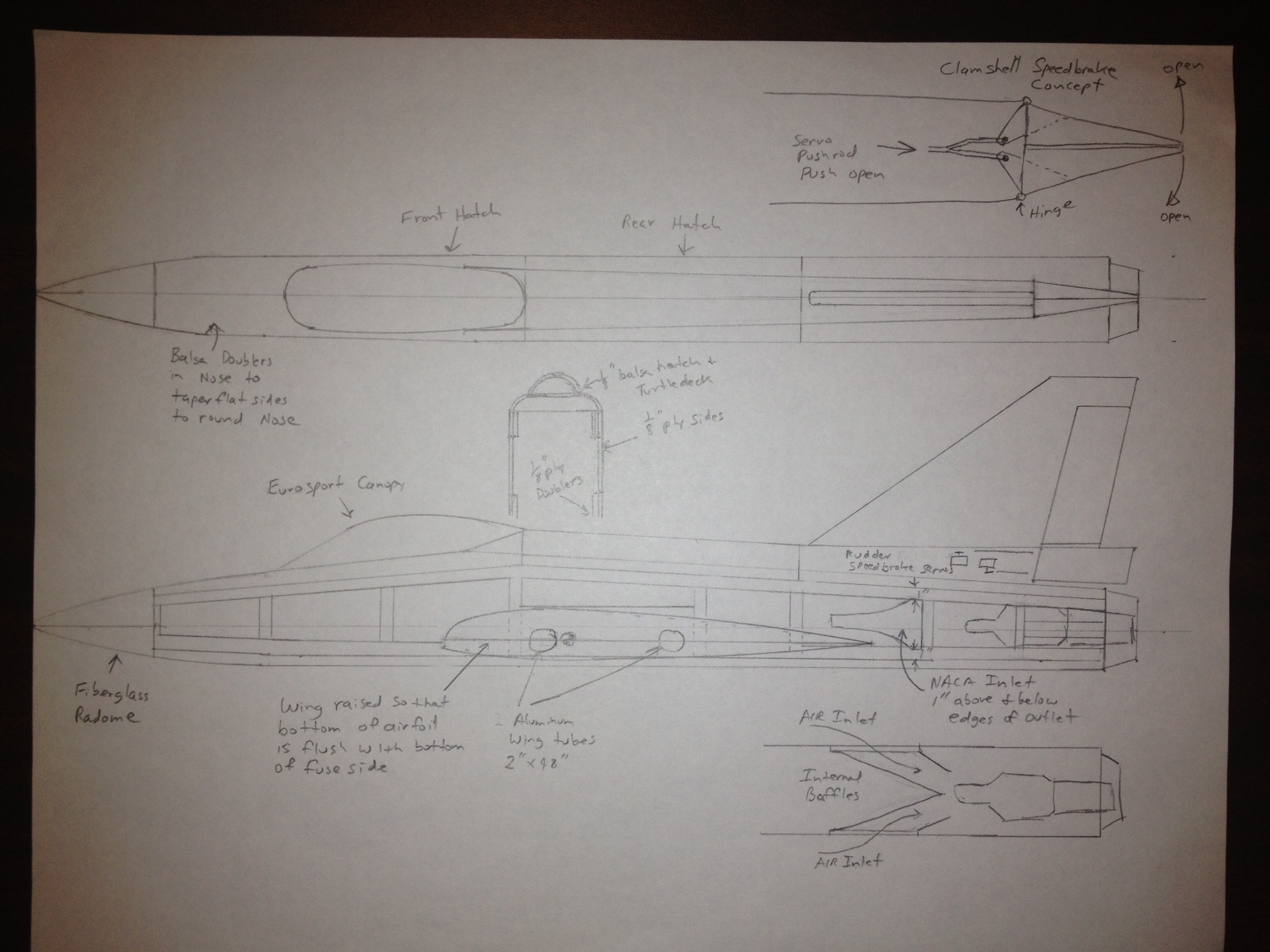 Sabre Xlt A Large Scratch Built Flying Wing Sport Jet Rcu Forums Engine Diagram From This I Developed Concept Drawing For The Turbine