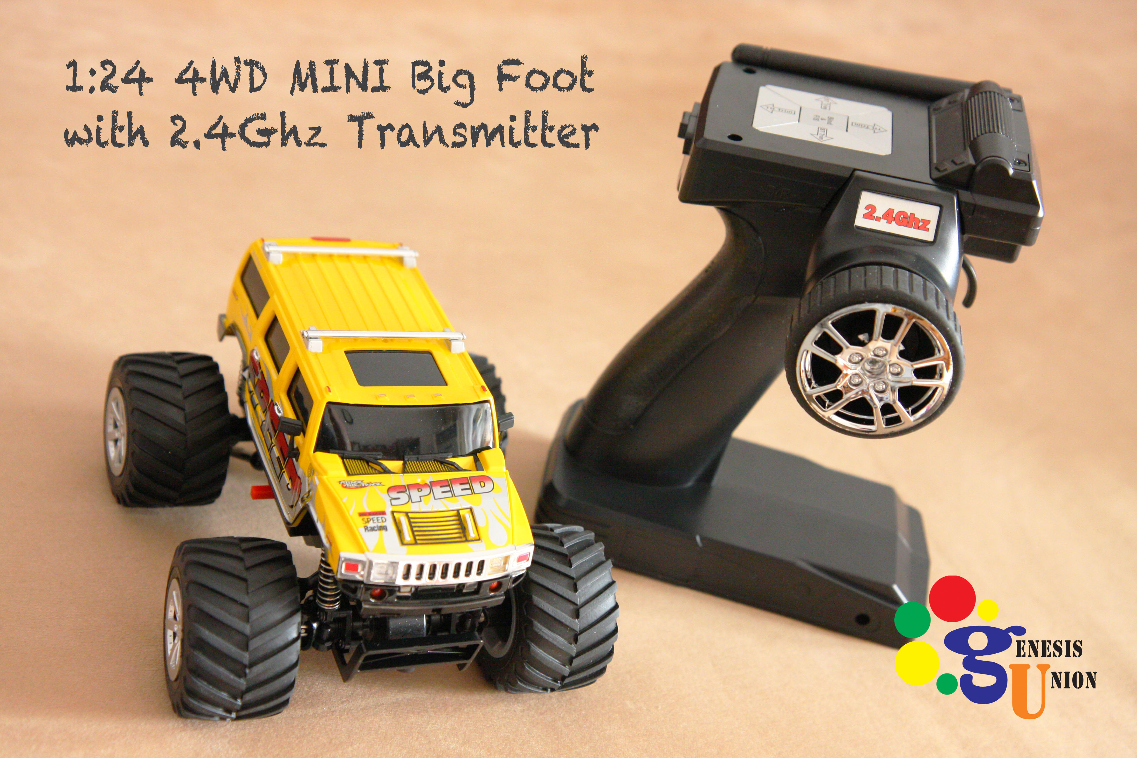 1/24 Mini Big Foot 4WD Hummer monster truck Great Wall 2112 New ...