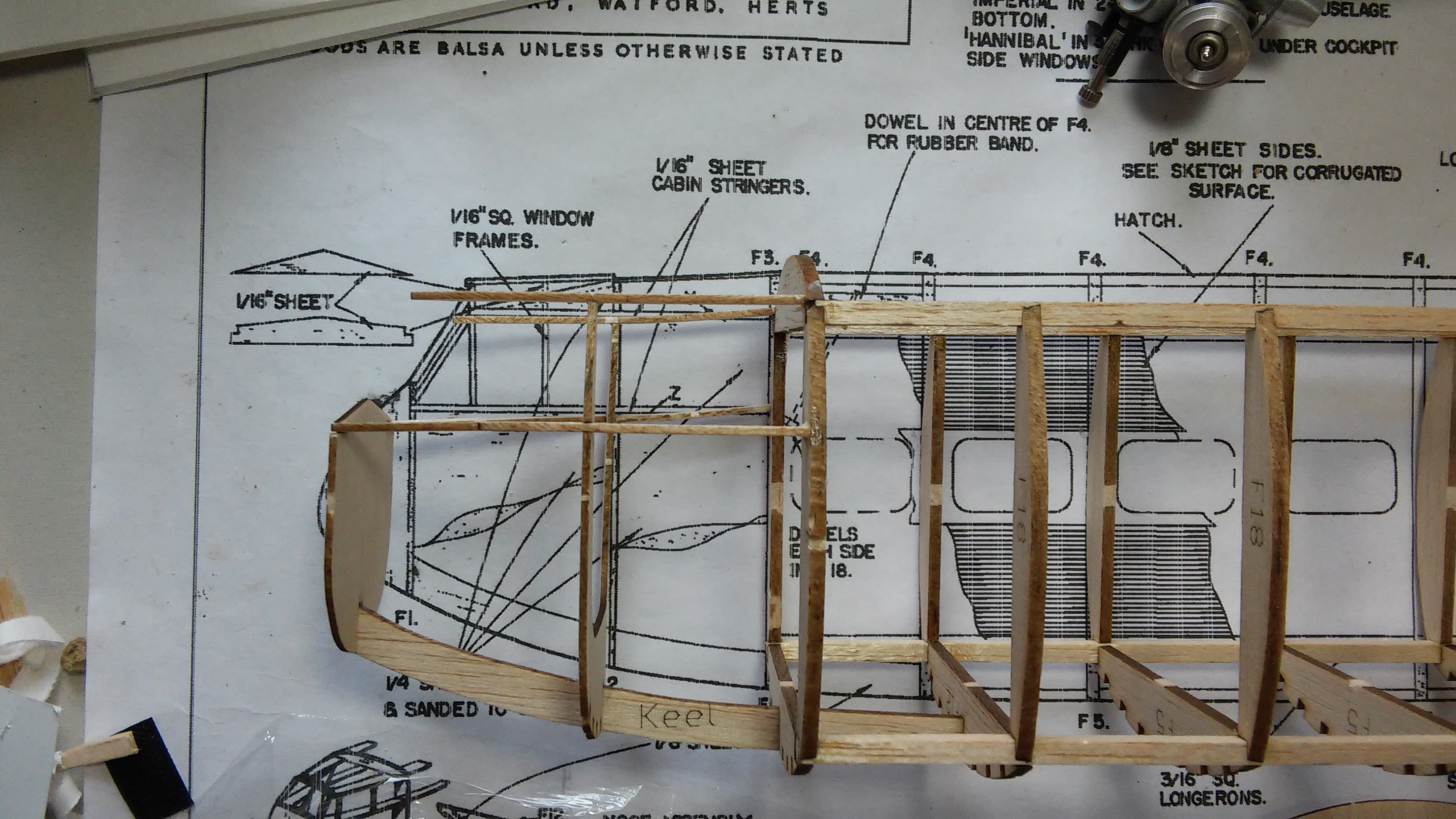 Handley Page H P  42 Hannibal Build from S  Newton plans and LDS