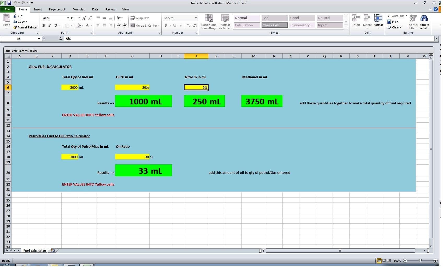 Fuel mix calculator - RCU Forums