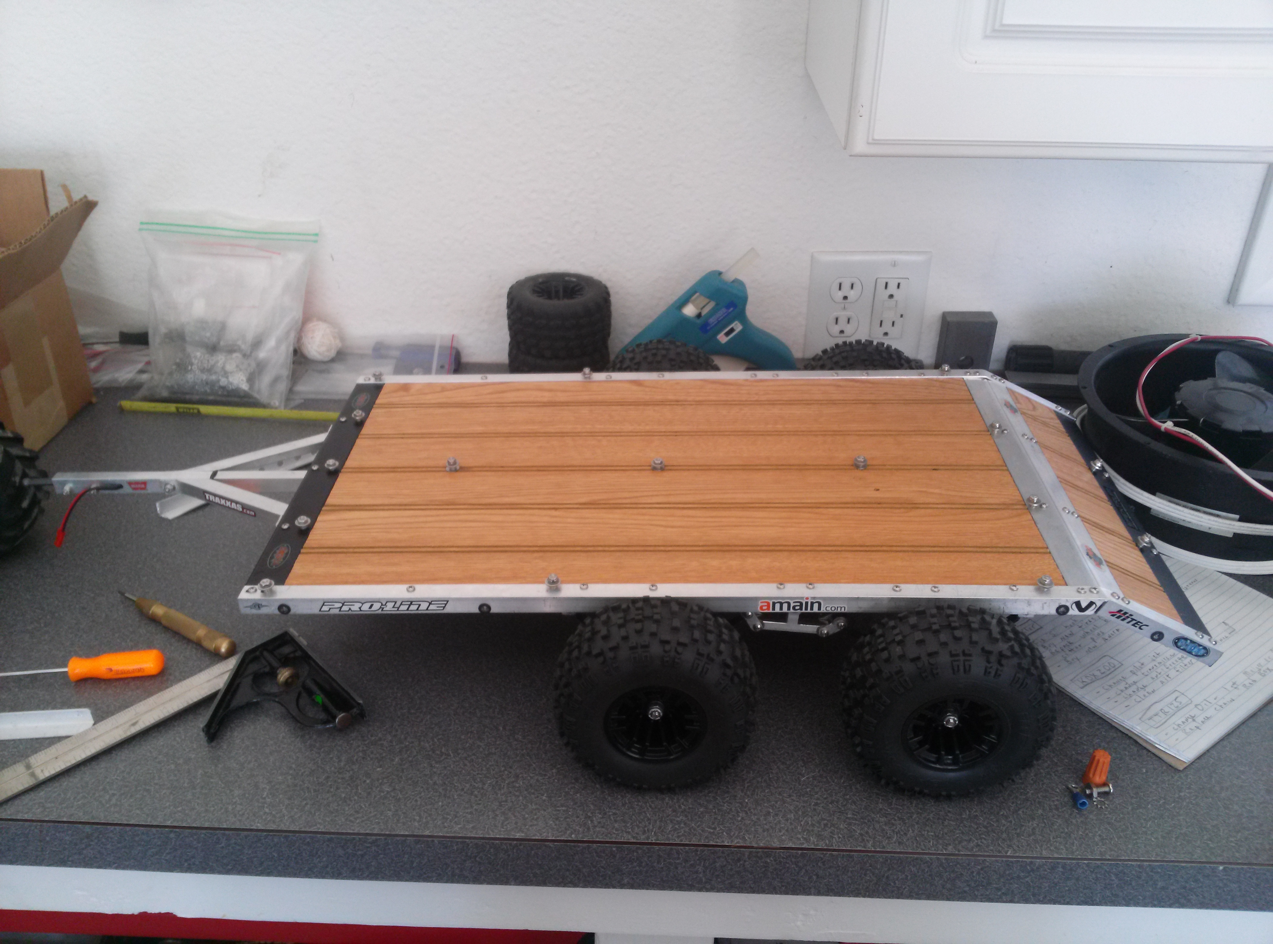 homemade tandem axle crawler hauler trailer build rcu forums