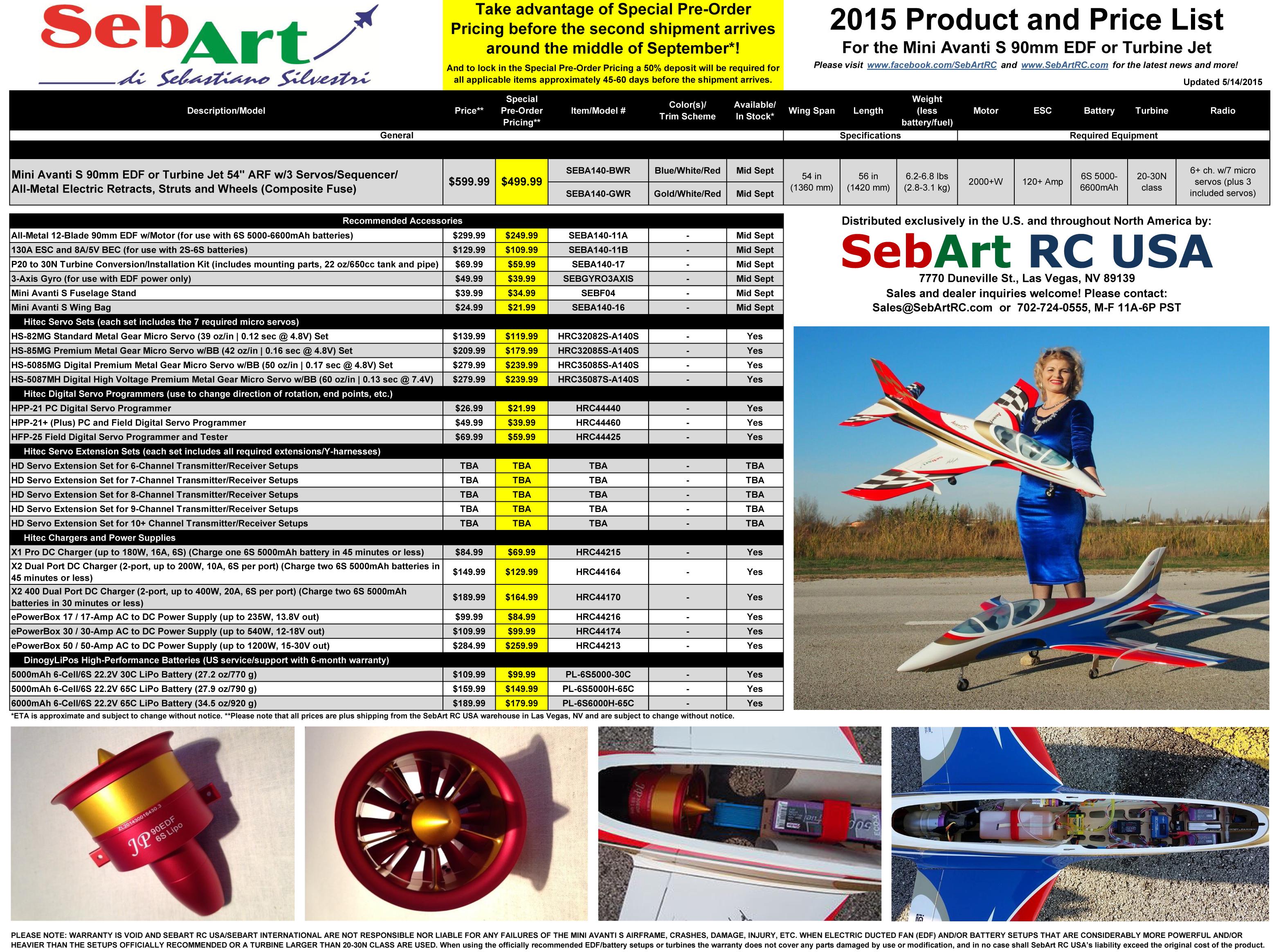Click image for larger version  Name:SebArt RC USA Mini Avanti S 90mm EDF or Turbine Jet Product and Price List 051415.jpg Views:1241 Size:3.27 MB ID:2095969
