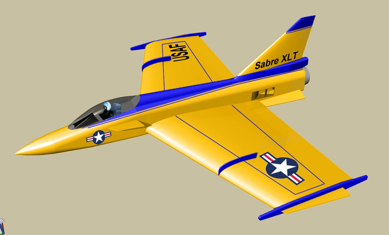 Sabre XLT Giant Scratch Built Turbine Flying WIng - RCU Forums