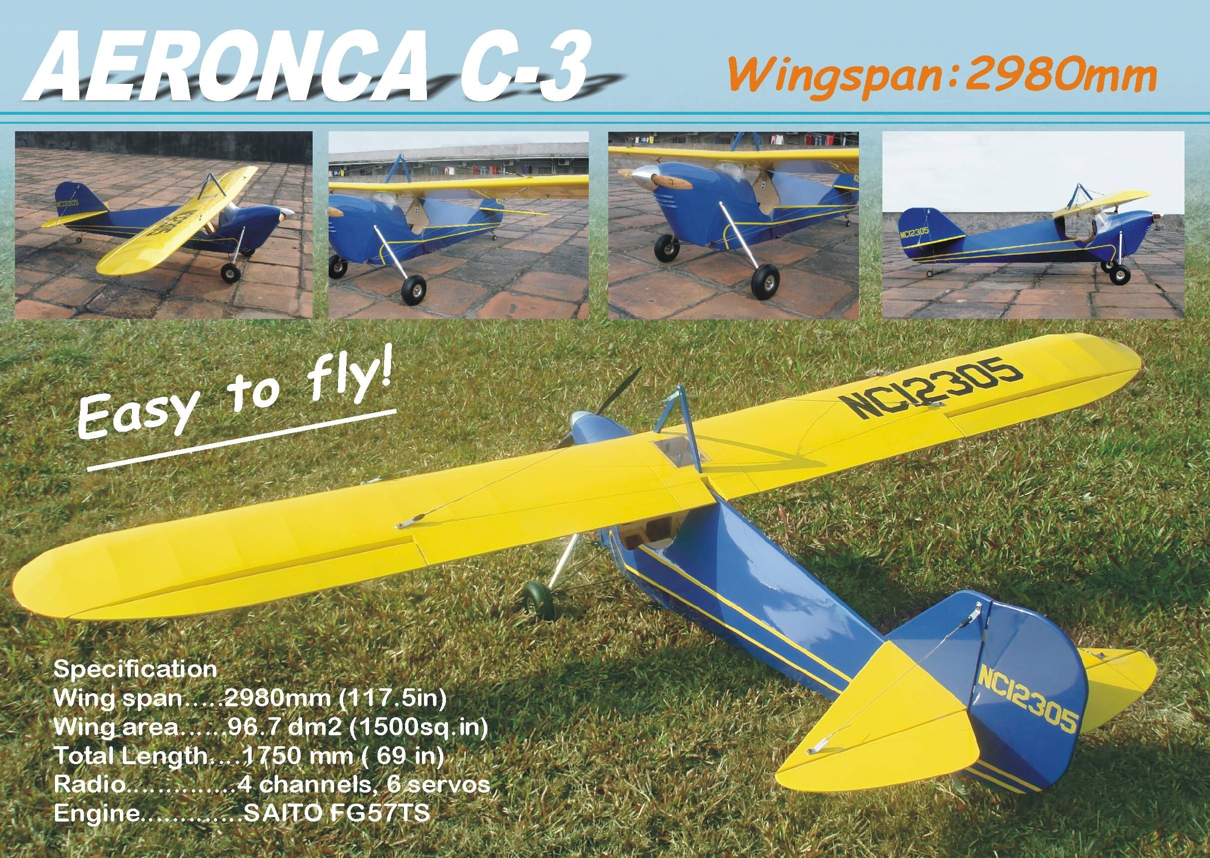 117 5 inch scale aeronca c 3 arf rcu forums