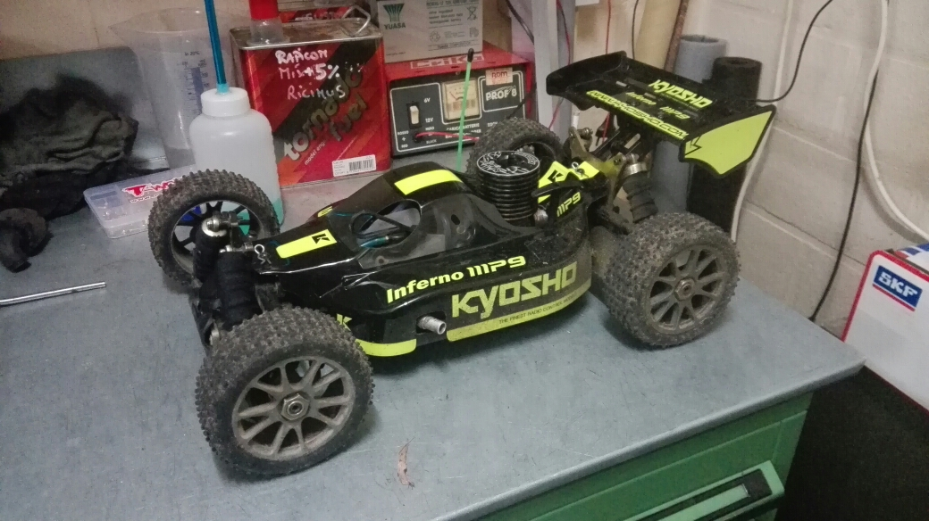 Inferno Mp9 With Kyosho Ke21r Engine Running Rich But Still High